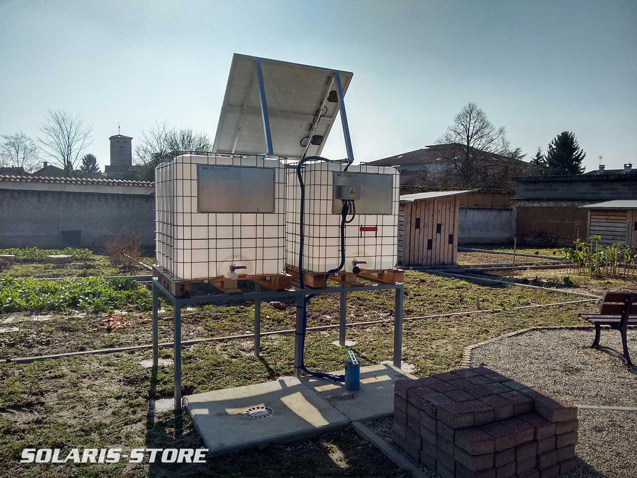 Galerie de r alisations pompage solaire solaris store for Arrosage jardin potager