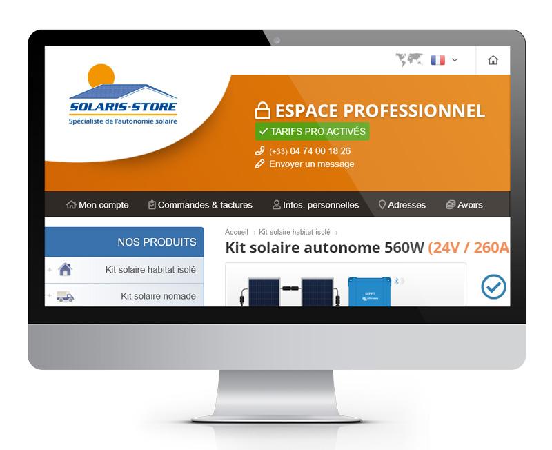 Ouvrir un compte PRO sur Solaris Store