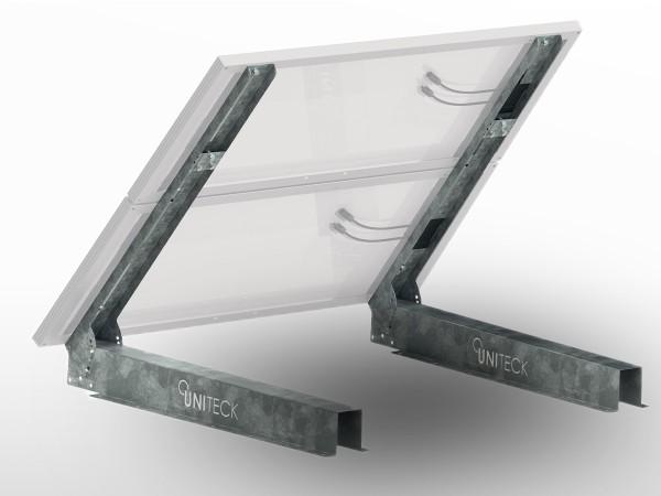 Support 1/2 panneaux solaires Galva SOL-MUR UNIFIX300B | largeur totale max 1100mm