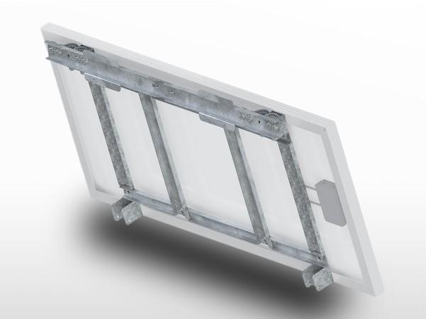 Support panneau solaire Galva Poteau UNIFIX100 | largeur panneau max 550mm