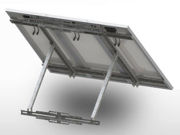 Support 1/2/3 panneaux solaires Galva POTEAU UNIFIX300 | largeur totale max 1200mm / 2 x 880mm / 3 x 550mm