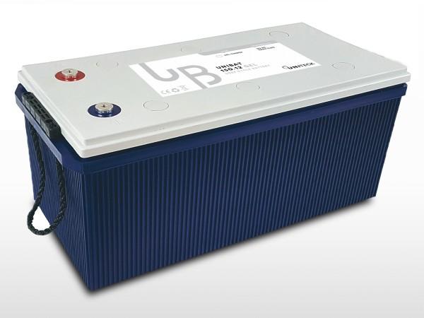 Batterie GEL Plomb Carbone - 12V / 220Ah   UNIBAT 220.12 GEL