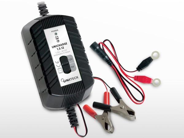 Chargeur de batterie intelligent 6/12V - 1,5A | UNICHARGE 1,5.12