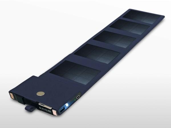 Chargeur solaire portable 4W + batterie USB   4W - 4000mAh