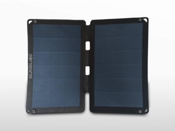 Panneau solaire flexible portable SUNSLICE 12W + chargeur USB | 2 x 2A