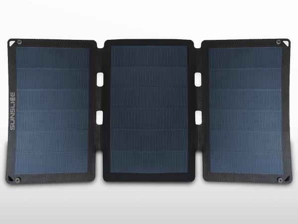 Panneau solaire flexible portable SUNSLICE 18W + chargeur USB | 2 x 3.6A