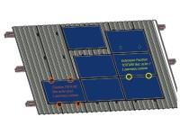 Fixation TOITURE Bac acier pour 1 panneau solaire   Cadre 30-50mm