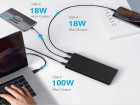 Batterie externe solaire SUNSLICE 99Wh   26800mAh multi-charge