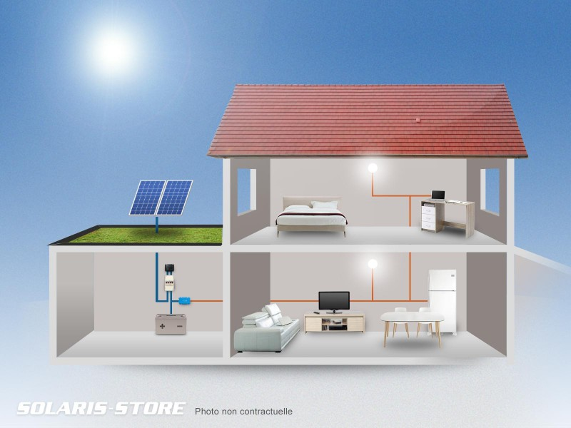 kit solaire autonome 300w 24v 300wc 165ah solaris store. Black Bedroom Furniture Sets. Home Design Ideas