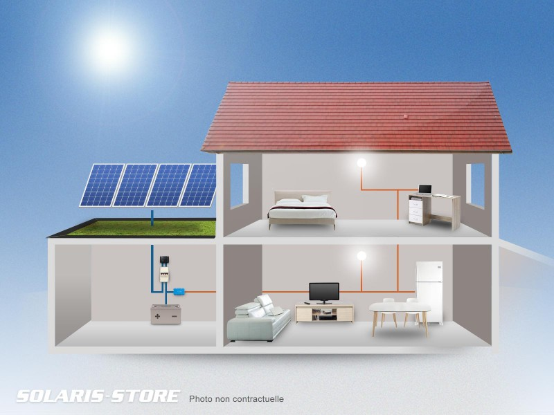 kit solaire autonome 1120w 24v 1120wc 495ah solaris store. Black Bedroom Furniture Sets. Home Design Ideas