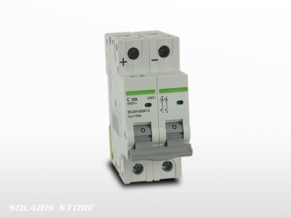 Disjoncteur Bipolaire DC courant continu 10A