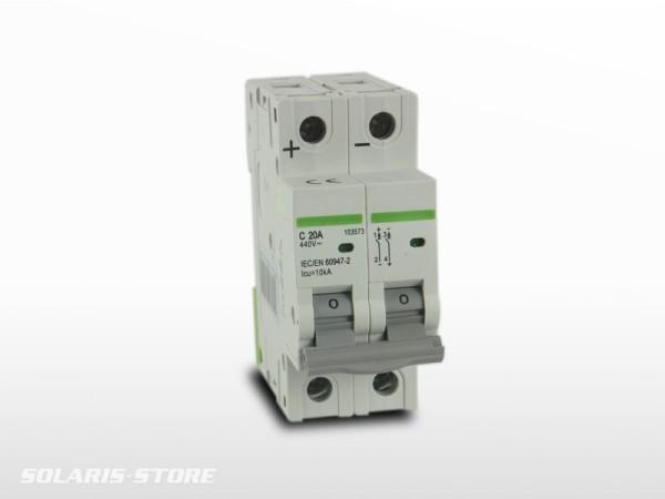 Disjoncteur Bipolaire DC courant continu 20A