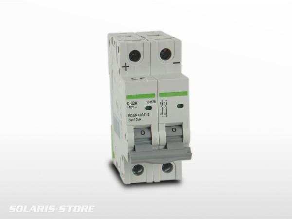 Disjoncteur Bipolaire DC courant continu 32A