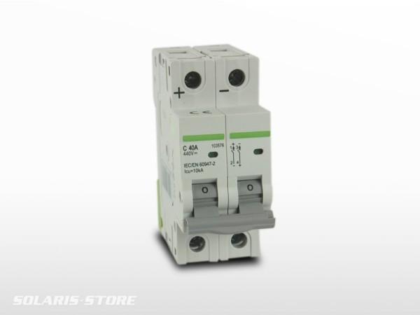 Disjoncteur Bipolaire DC courant continu 40A
