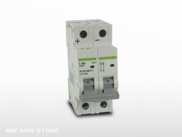 Disjoncteur Bipolaire DC courant continu 50A