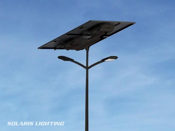 Lampadaire solaire SUN KEY XL DUO éclairage autonome de parking, route et place