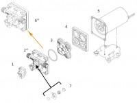 Kit boîtier supérieur pour pompe SHURFLO 50*0-2301-*011