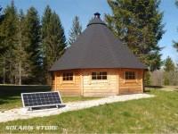 Kit solaire autonome avec batterie et panneau solaire 150 W pour chalet isolé