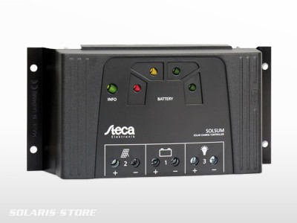 Régulateur solaire STECA SOLSUM 2525 + USB