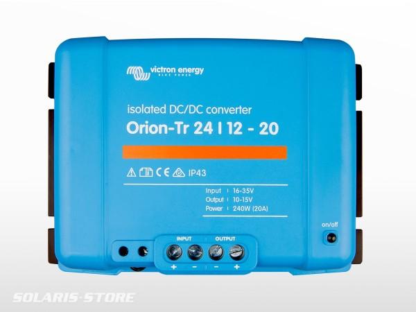 Convertisseur DC VICTRON Orion-Tr isolé 24/12 20A