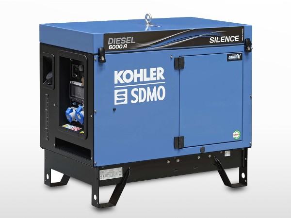 Groupe électrogène SDMO diesel 4900W | DIESEL 6000 A SILENCE AVR C5