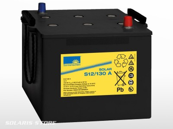Batterie solaire 12V 130A gel SONNENSCHEIN SOLAR S12 / 130Ah