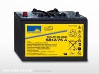 Batterie solaire gel SONNENSCHEIN SB12/ 75A | 12V - 75Ah