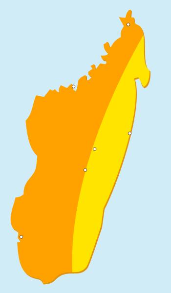 Ensoleillement solaire à Madagascar