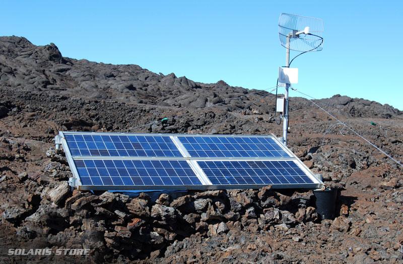 énergie solaire à La Réunion pour alimenter une station météo en totale autonomie