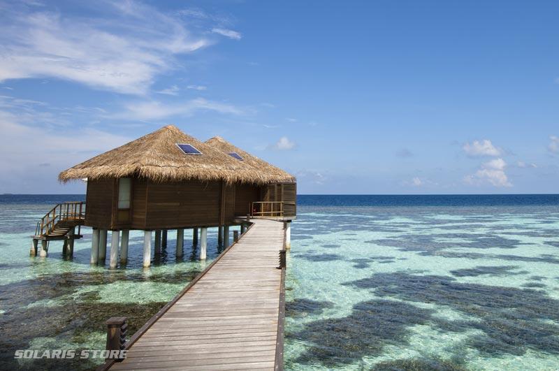 Alimentation de bungalow à l'énergie solaire sur l'île Maurice