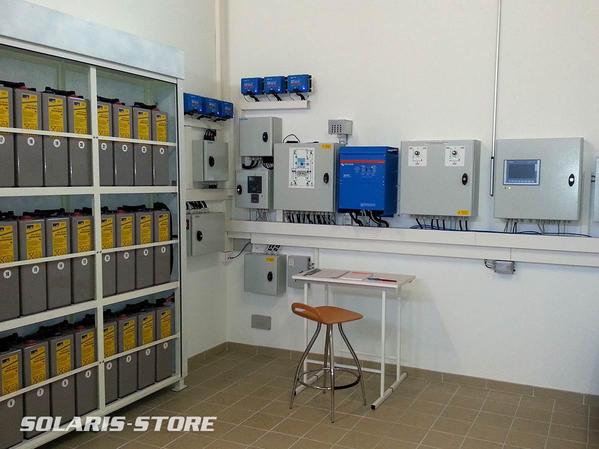 Ain (01) / Exemple d´installation solaire pro en autoconsommation avec stockage (batterie Opzv)