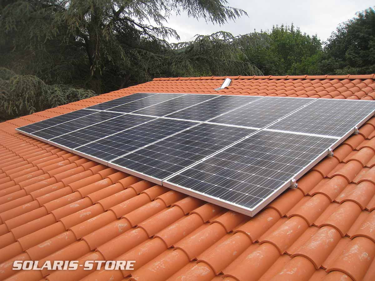 Rhône (69) / Panneau solaire en autoconsommation sur le toit d´une maison neuve