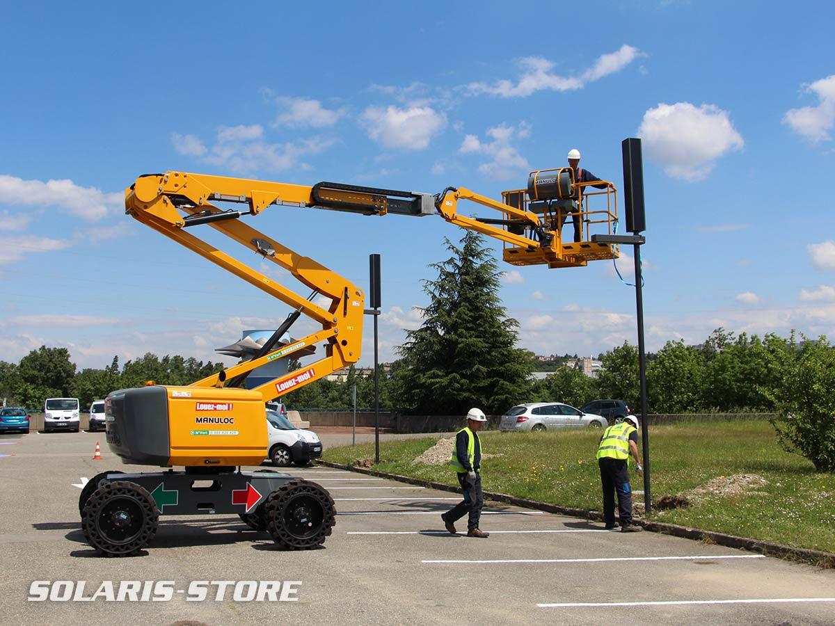 Rhone (69) / Installation de candélabre solaire autonome près de Lyon