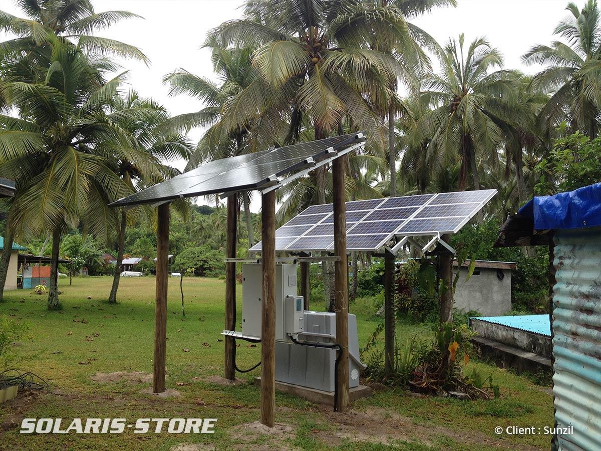 Centrale solaire photovoltaïque pour générer de l´électricité sur l´île