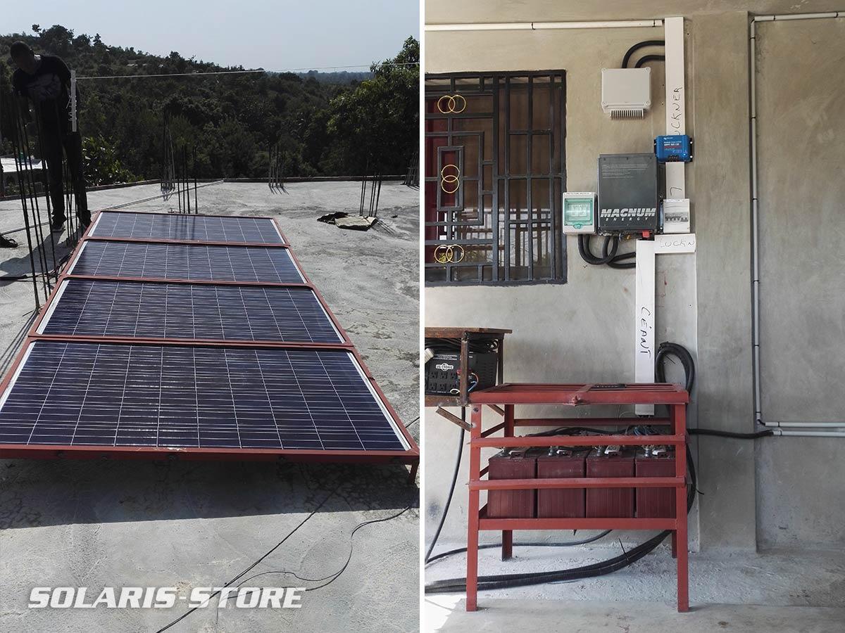 Haïti / Fourniture de matériel pour l´installation d´un kit solaire autonome