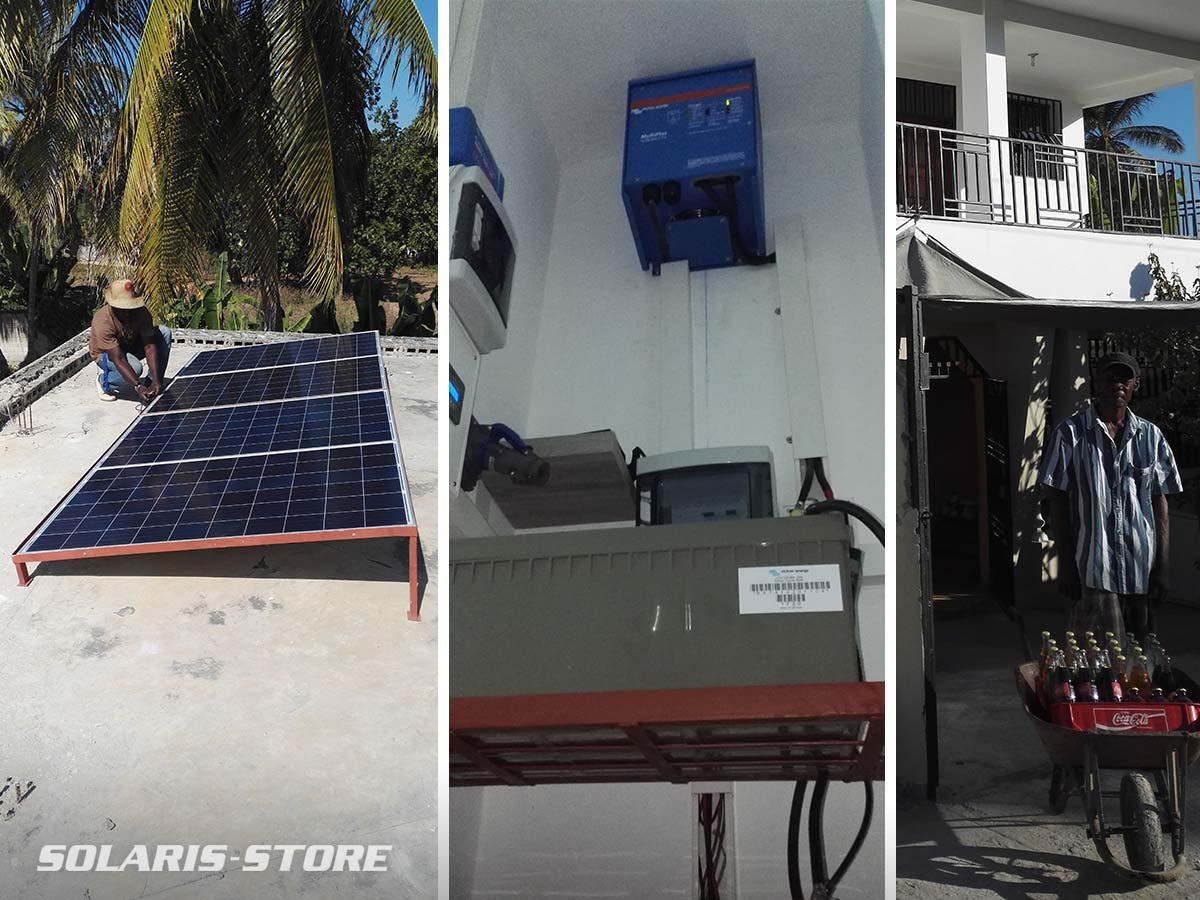 Installation de kit solaire autonome à Haïti réalisé par la société Gressier Solar