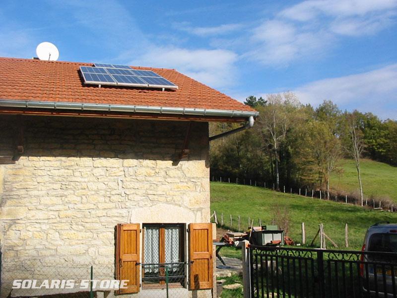 Savoie (73) / Kit solaire de 600Wc (panneau Tenesol, groupe Sunpower) pour habitat isolé en moyenne montagne.