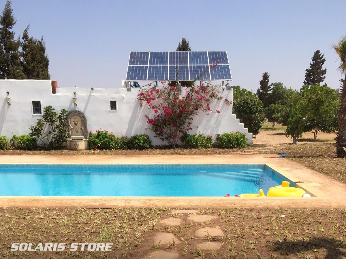 Les appareils de la maison et la pompe de la picine fonctionnent en totale autonomie grâce à l´énergie solaire