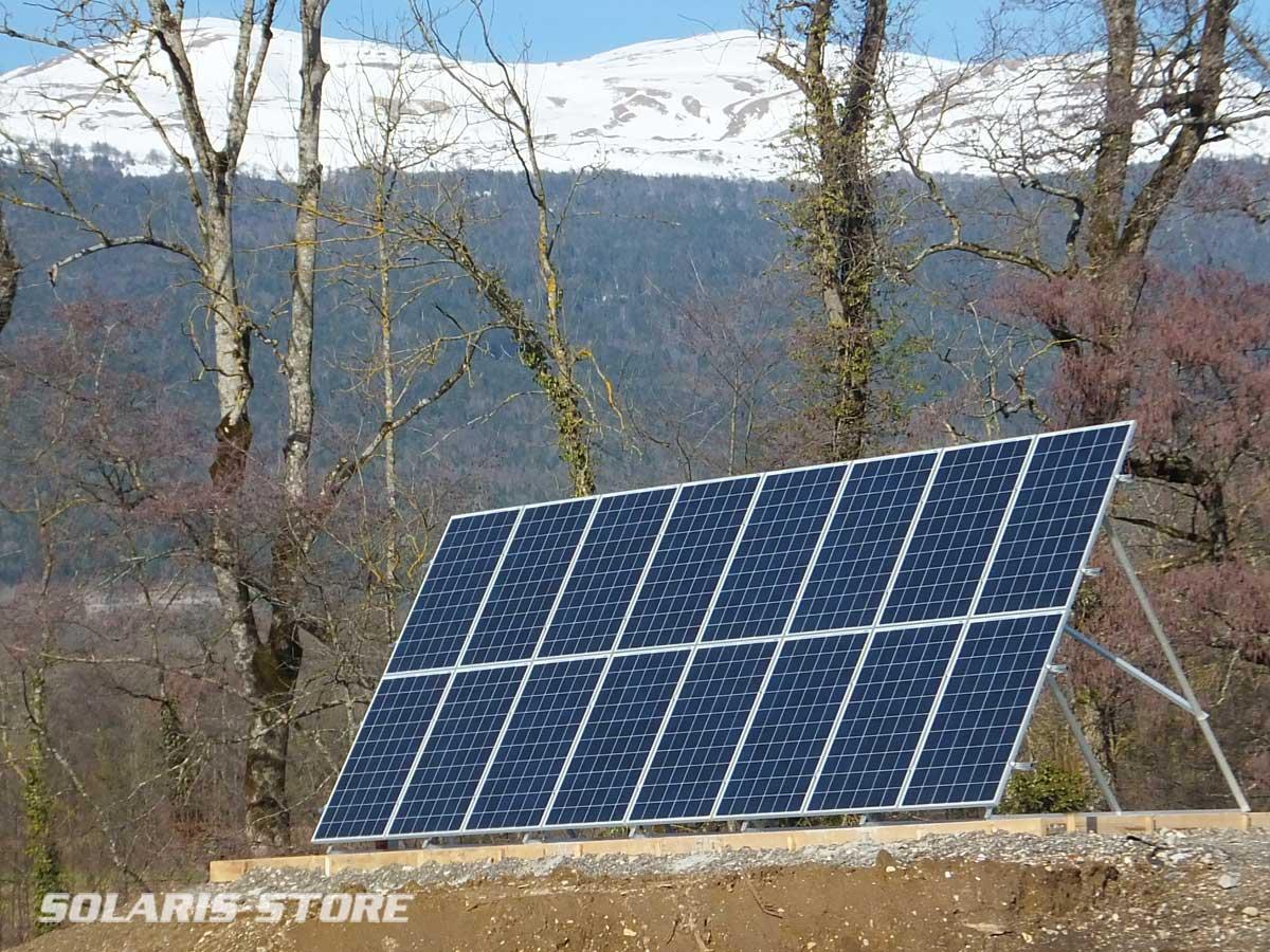 Ain (01) / 4000W de panneaux solaire avec une structure SOLARIS STU Y=2