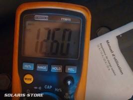 Test de la tension en sortie du kit solaire