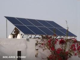 Installation d'un kit 2500W sur toit terrasse avec structure aluminium