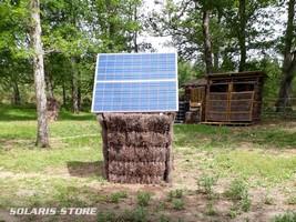 Intégration déportée des panneaux solaires autour du gîte