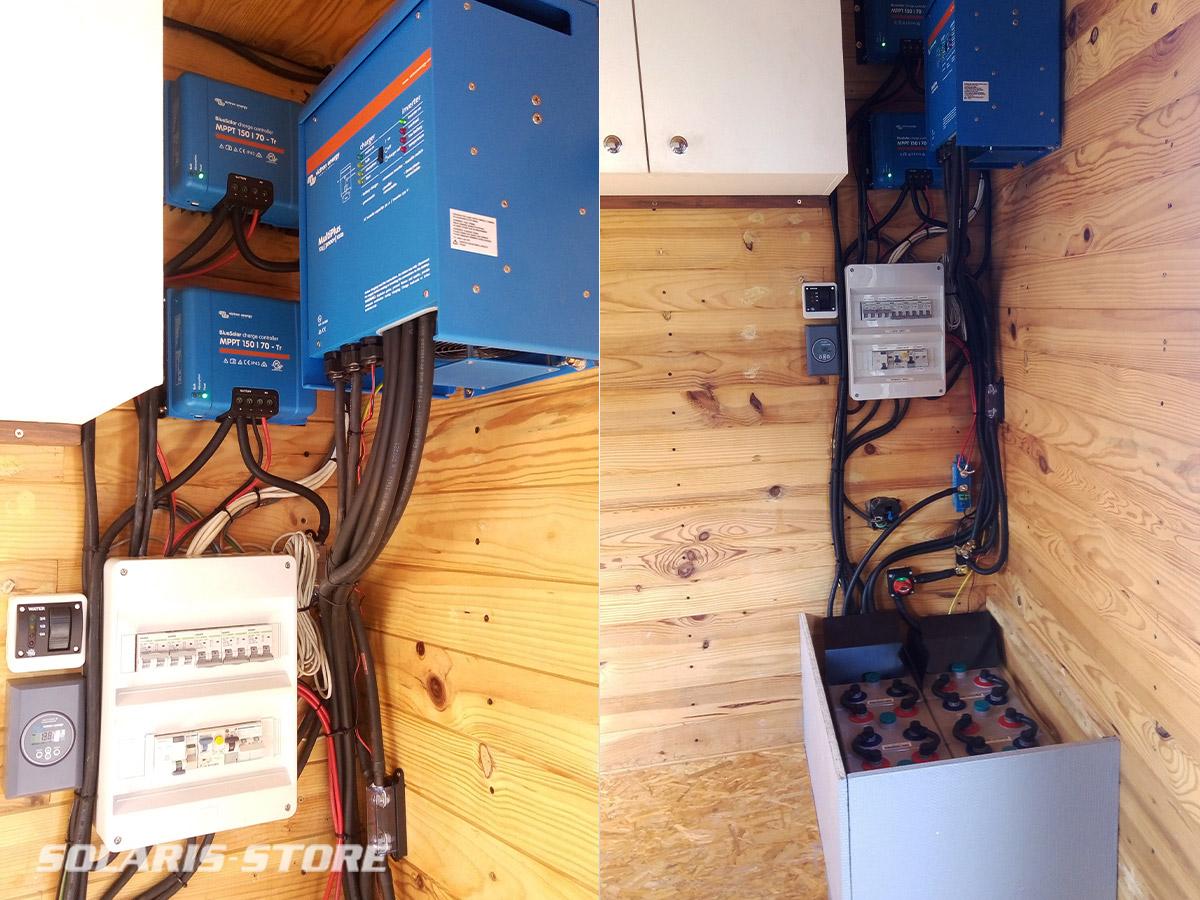Installation solaire / OPzV dans un camion aménagé