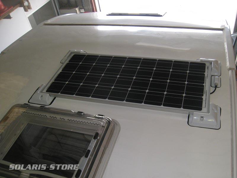 Le kit solaire permet de produire de l´électricité pour le camping-car
