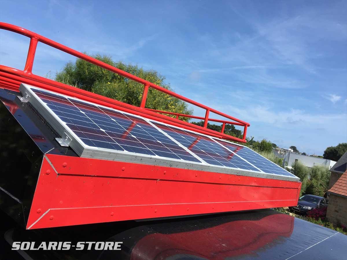 Kit solaire autonome embarqué sur un 4x4 raid