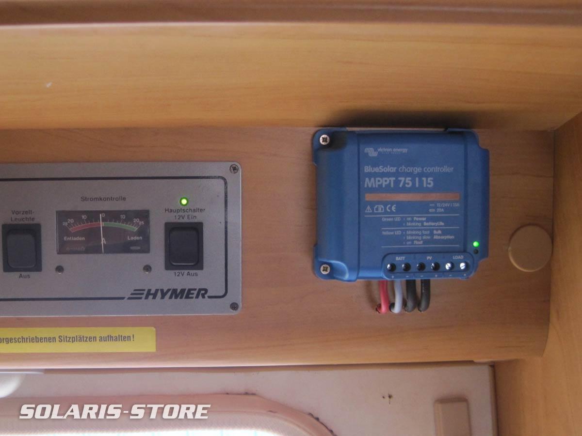 Branchement d´un régulateur Victron MPPT pour recharger les batteries de la caravane