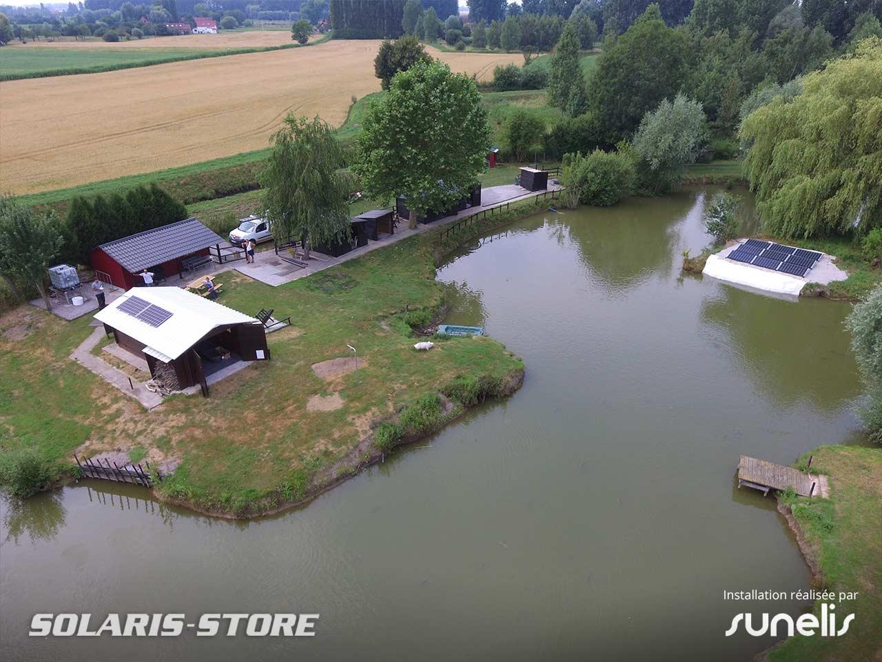 Nord (59) / Alimentation d'une cabane de pêche et d'une pompe immergée solaire près de Lille