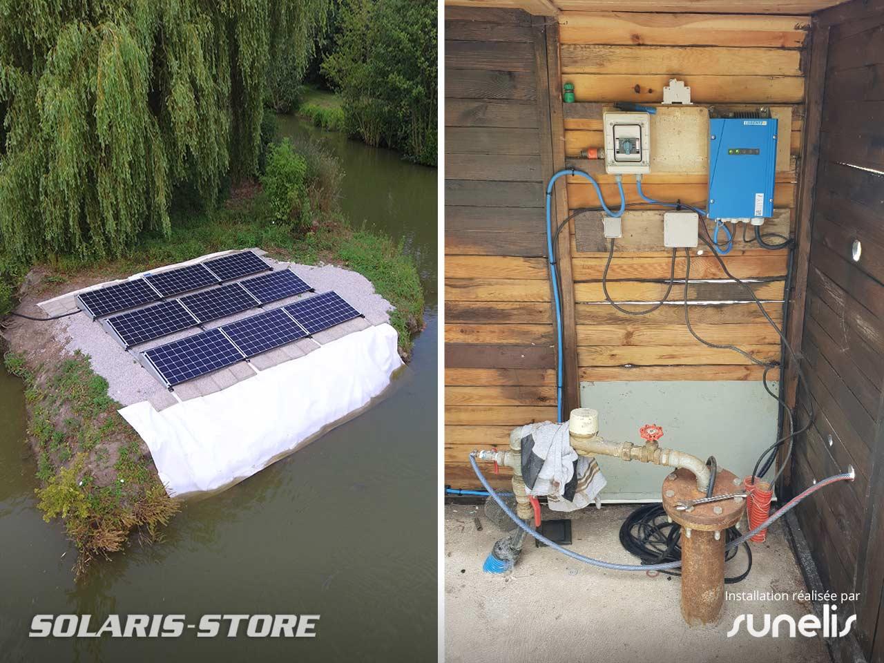 Nord (59) / Centrale de pompage solaire PV avec pompe immergée Lorentz