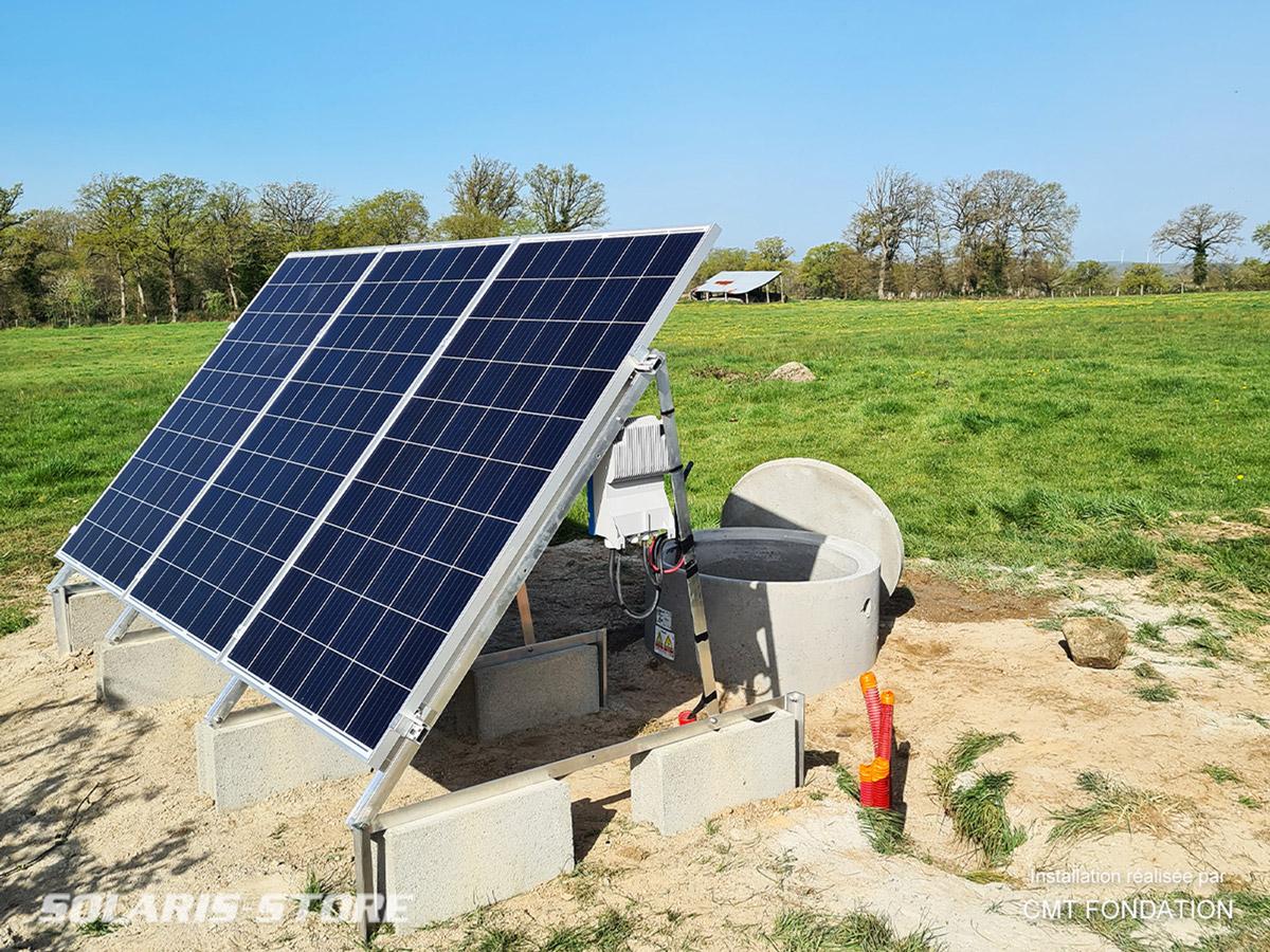 Pompage solaire LORENTZ pour abreuvoir