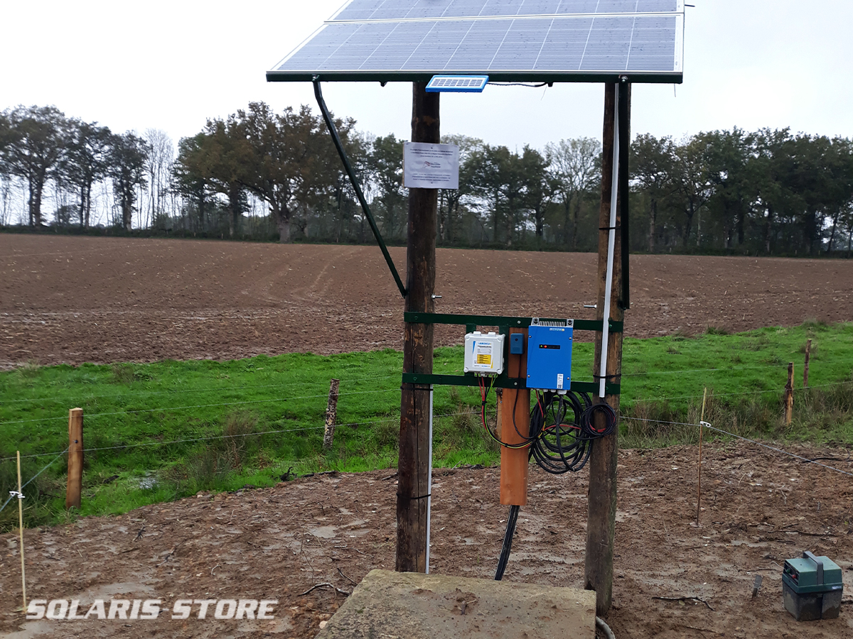 Kit de pompage solaire dans un puits